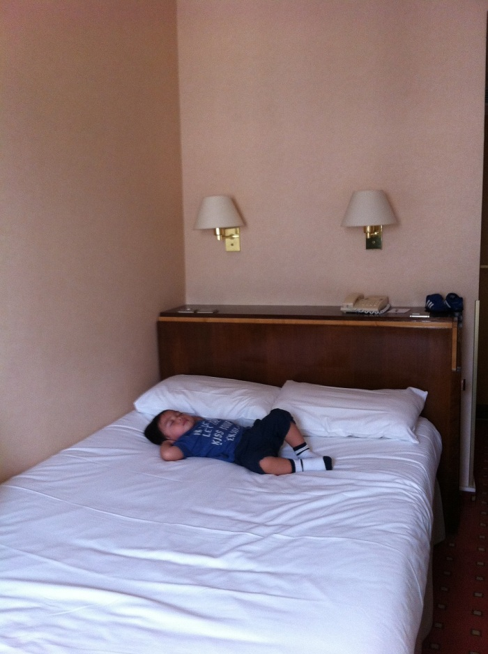 """our small """"double bed"""""""